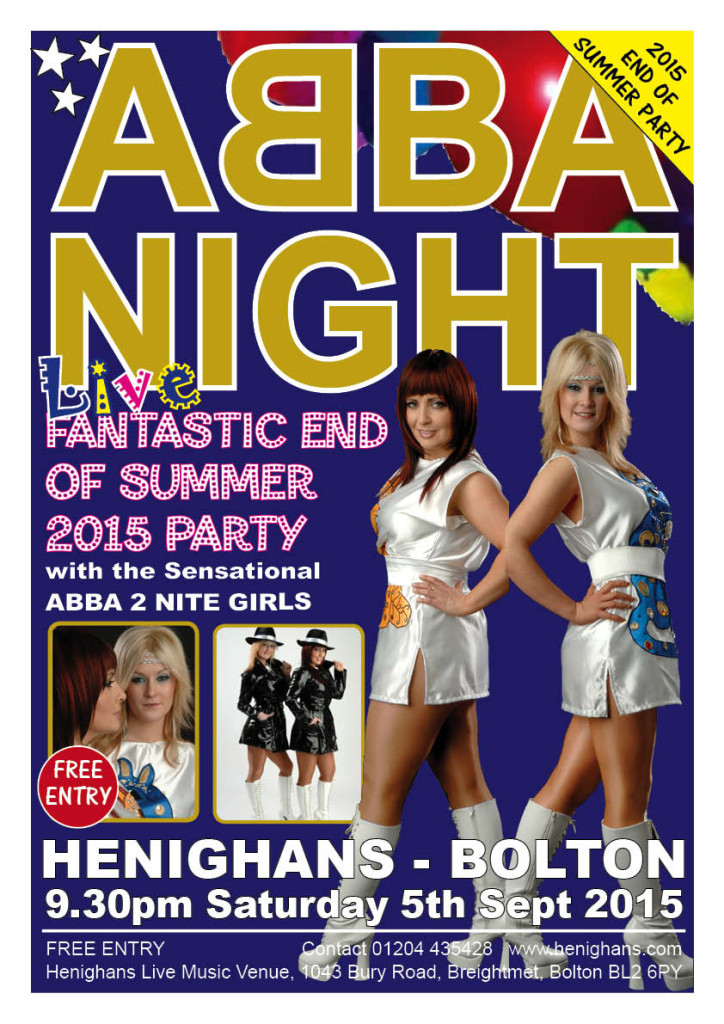 abba night end of summer party with the amazing abba 2. Black Bedroom Furniture Sets. Home Design Ideas